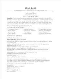 Free Sales Associate Job Resume Templates At Allbusinesstemplates Com