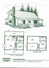 Two Story Loft Floor Plans Luxury 2 Story Log House Plans Unique Chic Idea  1 Story