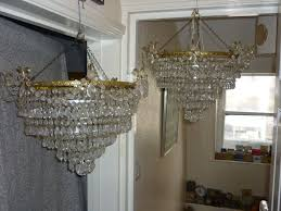 pair of french chandelier lampshade in original condition
