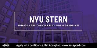 Nyu Stern Mba Essay Tips Deadlines 2019 2020 Accepted