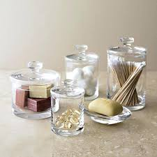 glass canisters for bathroom bathroom jars