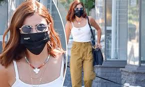 Lucy Hale steps out with new red hair color in Los Angeles as she switches  from brunette look