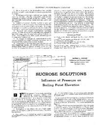 Pdf Sucrose Solutions Influence Of Pressure On Boiling