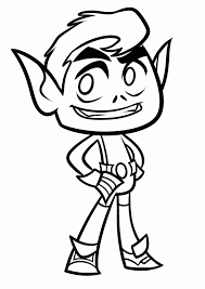 Small Picture Teen titans go coloring pages beast boy ColoringStar