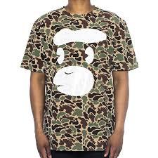 Hudson Designer Shirts Amazon Com Hudson Camo Ape Mens Shortsleeve T Shirt Brown
