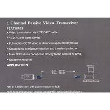 ev blc port passive transceiver cctv video balun compact size prevnext