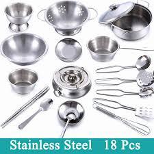 play kitchen for girls elegant whole stainless steel children kitchen toys miniature