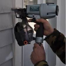 hitachi siding nailer. use this lightweight and compact hitachi siding coil nailer in serious applications. includes safety glasses three hex bar wrenches.