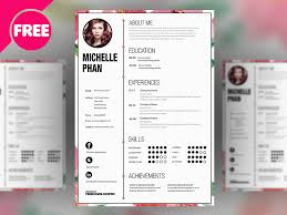 Designers Cv Template Free Psd By Free Download Psd Dribbble