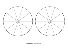 Pie Graph Template Pie Chart Templates Teaching Ideas