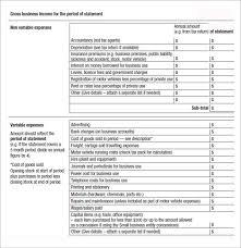 Profit Loss Statement Self Employed Profit Loss Statement Template Self Employed Mwb Online Co