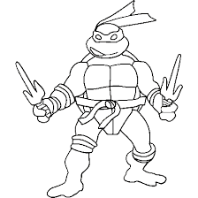 Free Printable Ninja Turtle Coloring Pages At Getdrawingscom Free