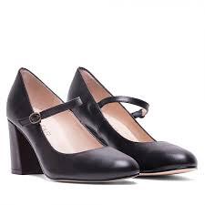 mary janes wide heel leather black buckles merceditas tacon ancho napa hebillas
