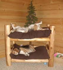 dog log bed via log dog bed