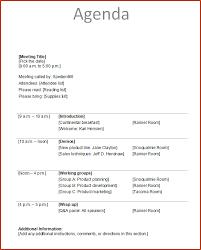 Agenda Business 5 Business Agenda Template Bookletemplate Org