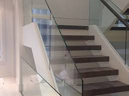 glass railings and entrances