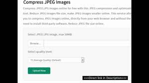how to reduce jpeg file size how to compress jpg images youtube