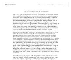 college essays college application essays ode to a nightingale  ode to a nightingale essay