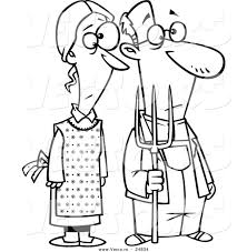 Vector of a Cartoon Gothic Farm Couple with a Pitch Fork ...