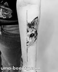 Minimalistické Tetování Kočka