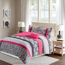 comfort spaces sally comforter set 3 piece hot pink black zebra