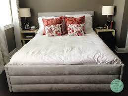 diy upholstered bed. DIY Bed Frame, Upholstered Headboard, Modern Diy -