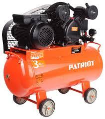 Купить <b>компрессор Patriot</b> PTR 50-260A, <b>Ременной</b>, 220В, 2 кВт ...