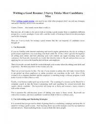 Creating A Cv The Oscillation Band How To Write Good Resume