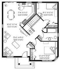 image result for 150 square meters bungalow floor plan floor Modern House Plan Narrow Lot this would make a great guest house or small home for shel person replace 1 bdrm with garage \