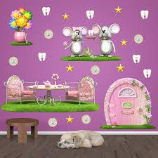Adesivi per bambini fatina dei denti topo perez rosa