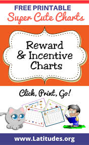 printable reward incentive charts for teachers students reward and incentive charts