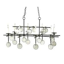company old iron recycled glass eight light rectangular chandelier weston 40 drop