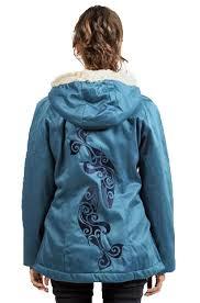 Sea Shepherd Ladies Classic Hoodlamb Coat Ocean Blue
