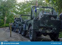 Jeep Of Merapi Lava Tour Adventure Editorial Stock Image - Image of april,  bunker: 179649154