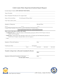 Free Blank Police Incident Report Templates At