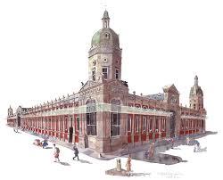 watercolour painting smithfield market london