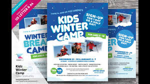 kids winter camp flyer templates kids winter camp flyer templates