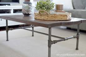 wood and pipe coffee table diy rustic industrial pipe coffee table rustic industrial pipes