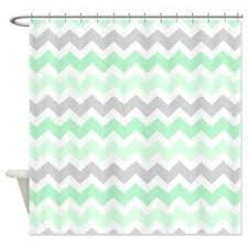 teal striped shower curtain. mint grey white chevron stripes shower curtain on - too teal striped