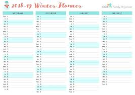 Holiday Planner Template Calendar Summer Holiday Planner Template Onedaystartsnow Co