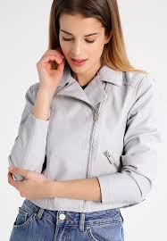 new look petite faux leather jacket light grey women clothing jackets