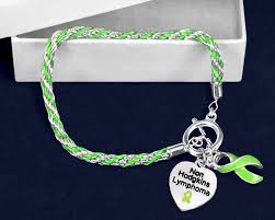 non hodgkin s lymphoma lime green ribbon rope bracelet