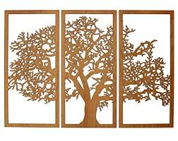 >amazon skyline workshop tree of life 3d cherry 3 panel wood  skyline workshop tree of life 3d cherry 3 panel wood wall art beautiful living
