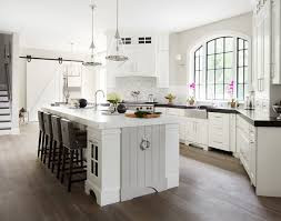 transitional kitchen ideas. Kitchen. Transitional Transitiona Kitchen Design With White Cabinets And Gray Island. # Ideas 7