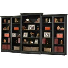 howard miller oxford 5pc bookcase wall unit in antique black