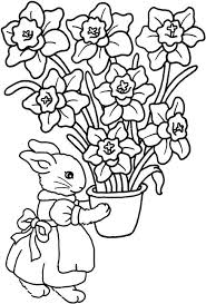 Small Picture Spring Flower Coloring Pages Smiling Flower Spring Coloring Page