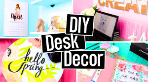 diy desk decorations for spring summer diy room decor cute projects homelobby com