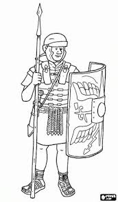 Rome Coloring Pages Printable Roman Soldier A Legionary Armed