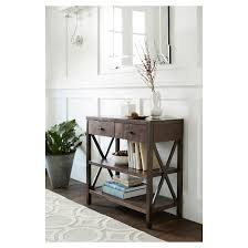 Owings Console Table 2 Shelf Espresso Threshold™ Tar