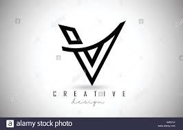 V Letter Design V Letter Logo Monogram Design Creative V Letter Icon With
